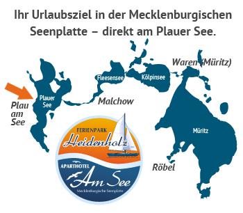 Ferienpark Heidenholz inmitten der Mecklenburgischen Seenplatte