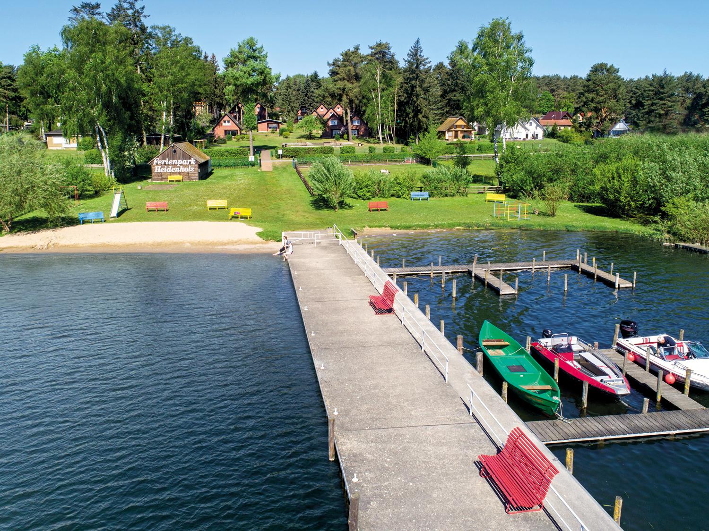 Ferienpark Heidenholz Seebrücke und Strand